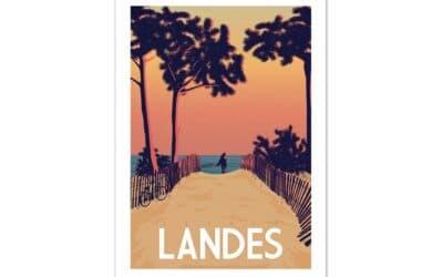 Stijlvolle vintage posters en accessoires van de Atlantische kust: design made in Hossegor