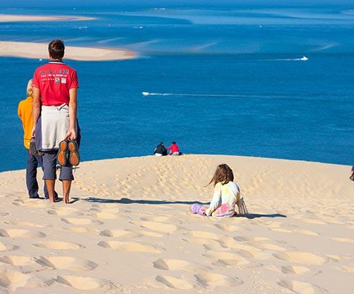 Eine Familie auf der Dune du Pilat
